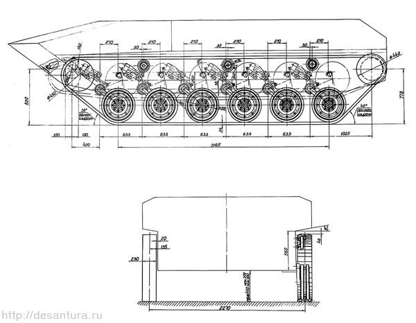 Схема ходовой части БМД «