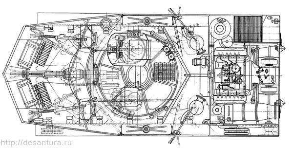 Компоновка БМД «Объект 915»